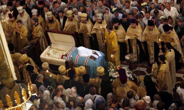 Прощание с митрополитом Владимиром. Фото УНИАН.