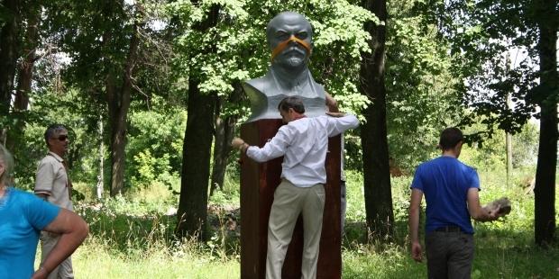 На Житомирщине повалили Ленина