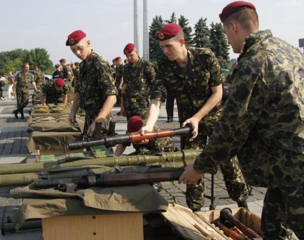 Часть оружия террористов используется армией / УНИАН