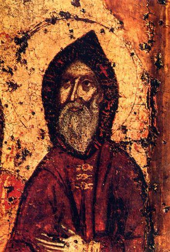 Преподобный Антоний Печерский (икона, 1288 год)