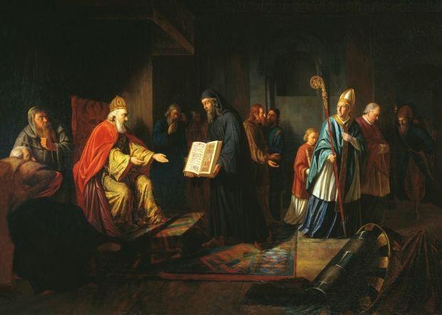 И. Е. Эггинк. «Великий князь Владимир выбирает веру». 1822