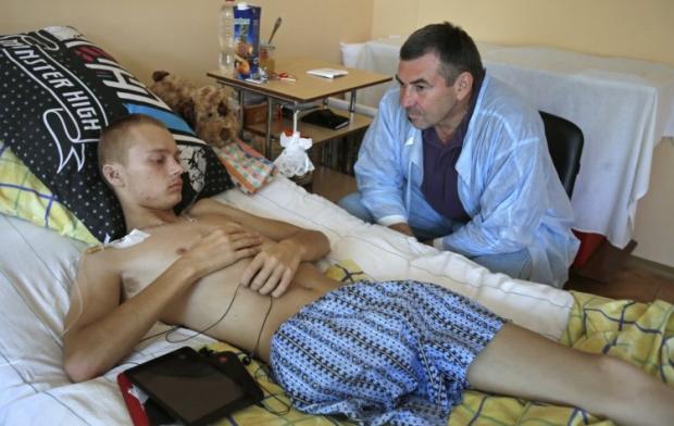Раненый во время АТО старший солдат, водитель