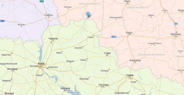 На карті позначено село Біла Березка