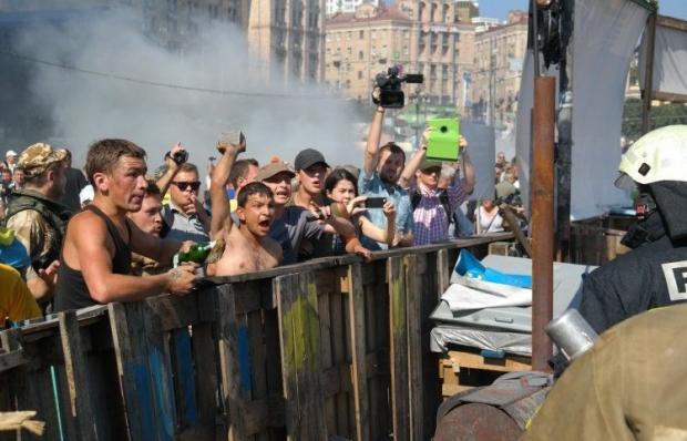 Через сутички з міліцією та комунальниками відкрито ряд проваджень / Фото УНІАН