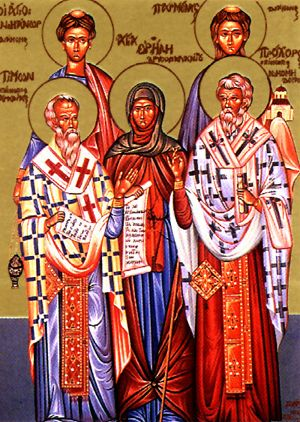 """Результат пошуку зображень за запитом """"Святих апостолів і дияконів Прохора, Никанора, Тимона і Пармена"""""""