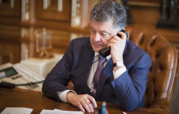 Порошенко поговорил в Ромпеем о решении конфликта на Донбассе/ Фото УНИАН