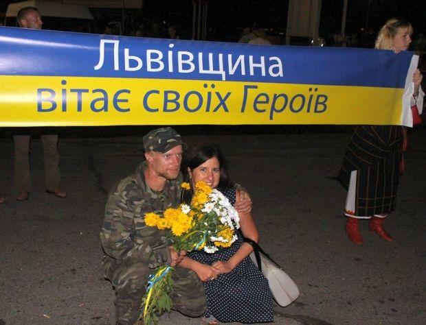 Вояки повернулися із зони АТО / Міноборони