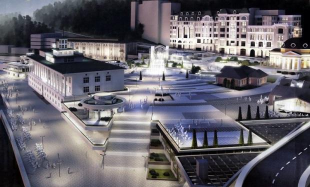 Эскиз реконструированной Почтовой площади / УНИАН