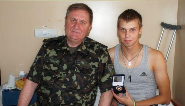 Поранений учасник АТО вступив до військової академії / Фото прес-служба Міноборони