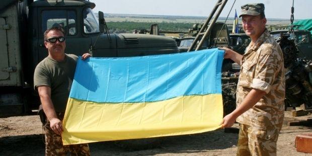 Бойцы получили более 250 флагов
