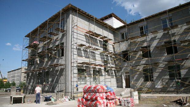 Процесс восстановления больницы в городе Красный Лиман