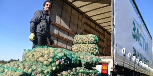 Активисты собрали 50 тонн картофеля для пострадавших в зоне АТО
