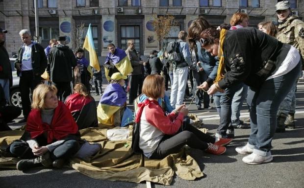 Кличко попросил активистов не блокировать движение на Крещатике / Фото УНИАН