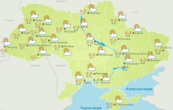 Карта Укгідрометцентру