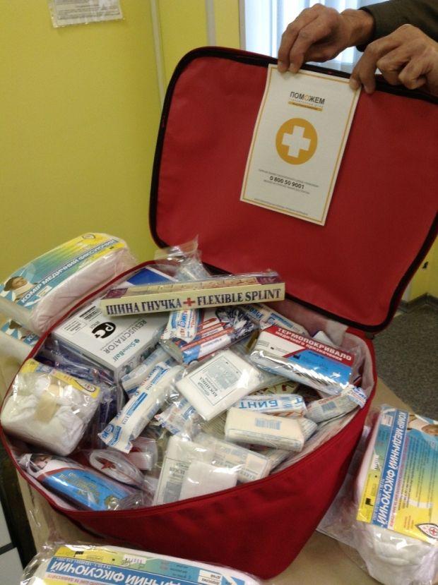 Аптечка от Штаба / Фото: Пресс-служба Гуманитарного штаба Рината Ахметова