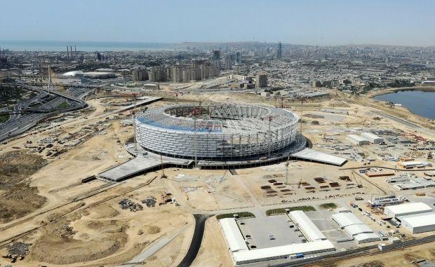 Церемония открытия Игр пройдет на новом стадионе, который сейчас возводится в Баку / baku2015.com