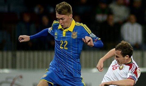 Сергей Сидорчук забил победный гол в составе сборной Украины / football.ua