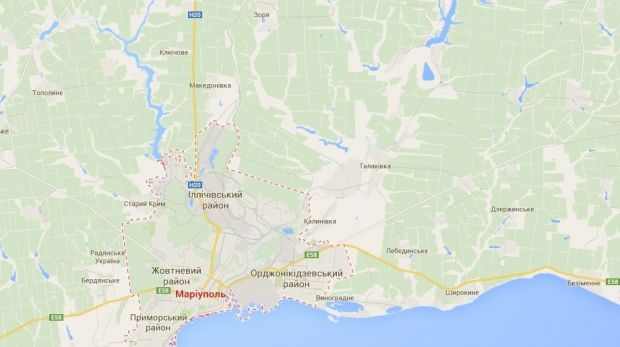 Mariupol and surrounding areas / Google Maps