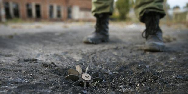 миномет луганск, ато / REUTERS