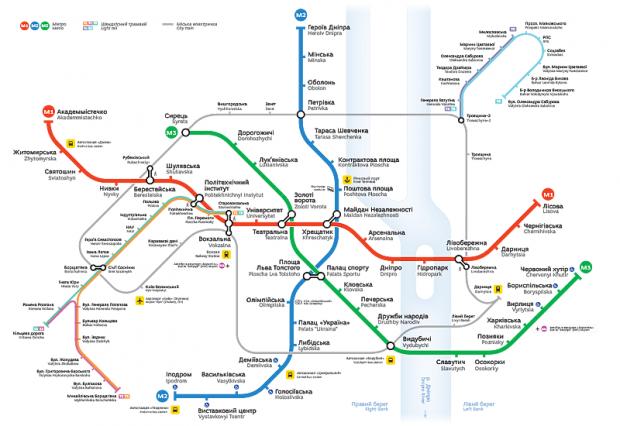Киевское метро получило новые карты / skliarevsky.org