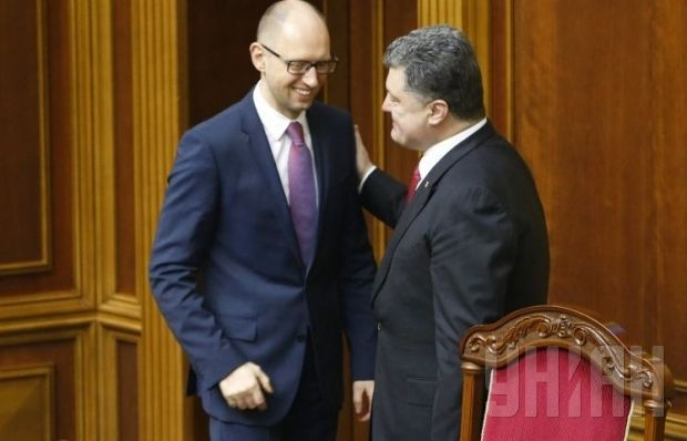 Poroshenko responsible, Yatseniuk playing to the crowd, says the BBC's Stephen Sackur / Photo by UNIAN
