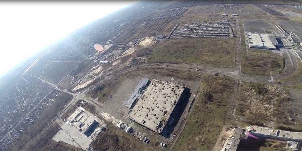 Появились фото донецкого аэропорта с высоты птичьего полета