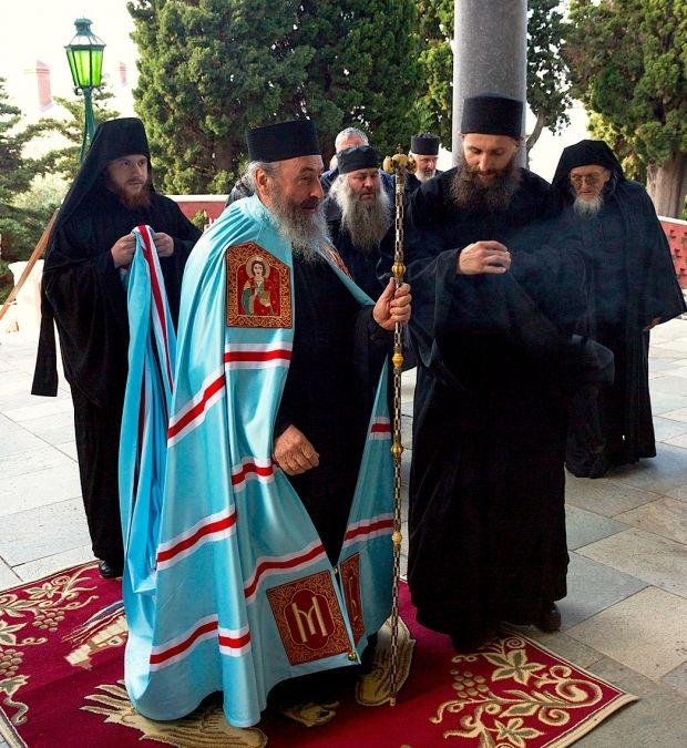 Митрополит Онуфрий в день свого рождения на Афоне. 5 ноября 2014 год.