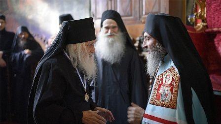 Блаженнейший Владыка поздравил отца-игумена Иеремию с его 99-летием