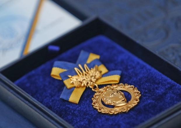 Знак отличия лауреата Шевченковской премии / УНИАН