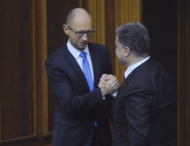 Порошенко в Киеве поддерживают больше, чем Яценюка / Фото УНИАН