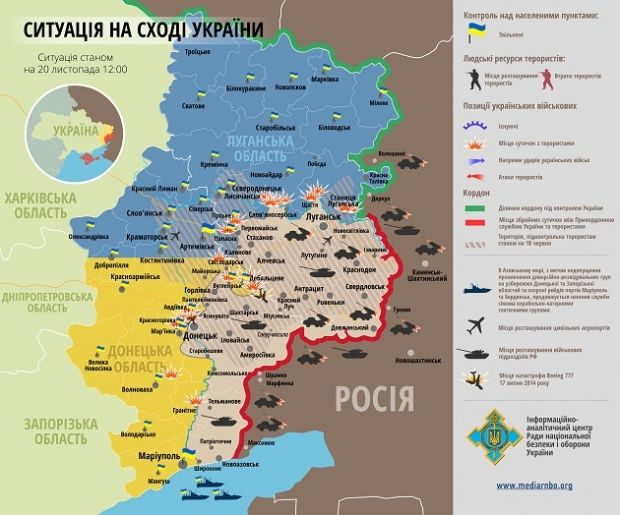 Інформація станом на 20 листопада / rnbo.gov.ua