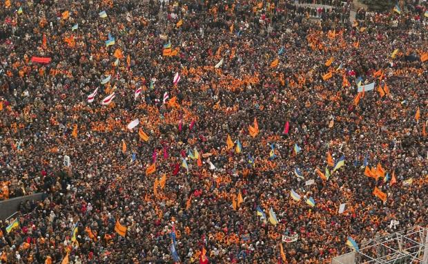 Ровно десять лет назад в Киеве началась Оранжевая революция / Фото УНИАН