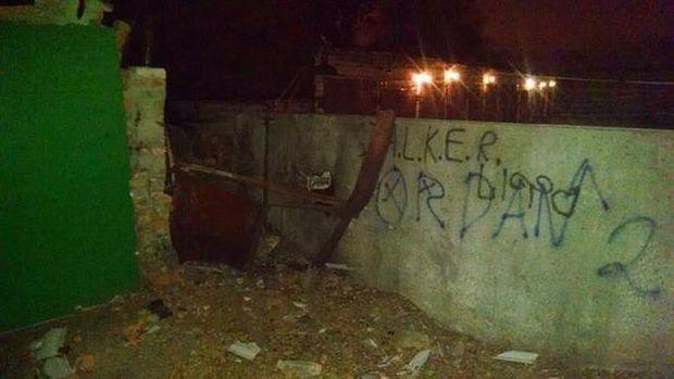 Возбуждено дело по факту взрыва у воинской части Харькова / фото из соцсетей
