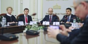 Leaders of five parties initial text of coalition agreement