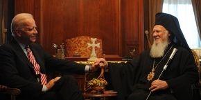 Патриарх Варфоломей обсудил ситуацию в Украине с вице-президентом США Джо Байденом