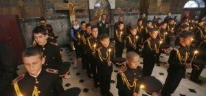 В Киево-Печерской лавре посвятили в кадеты лицеистов младших курсов Киевского военного лицея (фоторепортаж)