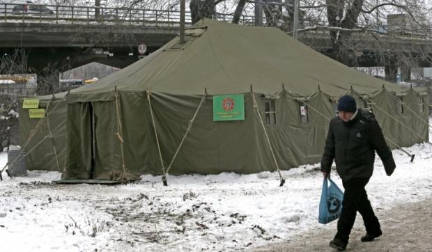 В Киеве заработали мобильные пункты обогрева