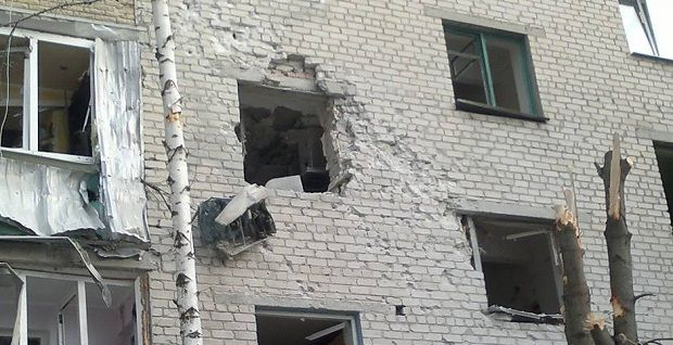 Militants have started shelling the town of Avdiyivka / Photo from  Vyacheslav Abroskin on Facebook