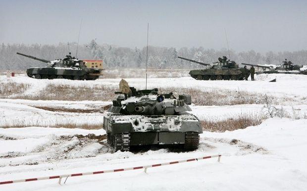 Танкова дивізія РФ на навчаннях / міноборони.рф