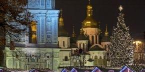 На Софийской площади Киева торжественно открыли главную новогоднюю елку страны (фоторепортаж)
