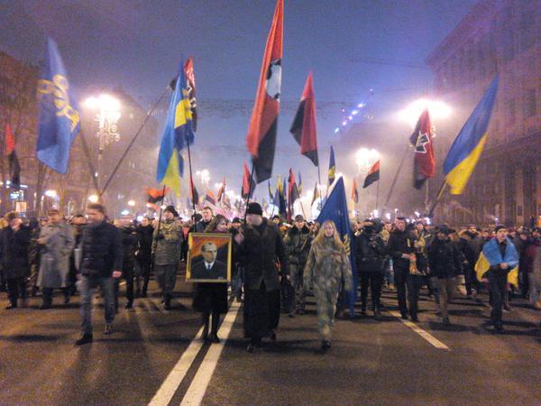 Марш до дня народження Бандери завершився / @vo_svoboda