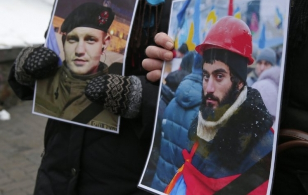 The first victims shot dead during Euromaidan events in January 2014 / Photo from UNIAN