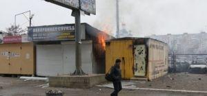 Обстрел боевиками Мариуполя