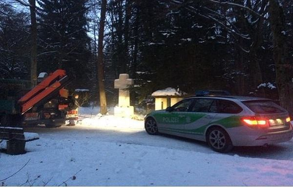 В Мюнхене неизвестные осквернили могилу Бандеры  / twitter.com/VadymKostiuk