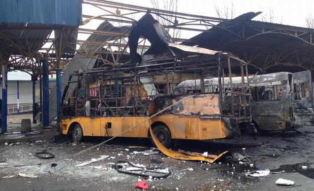 В Донецьку обстріляли автостанцію @euromaidan