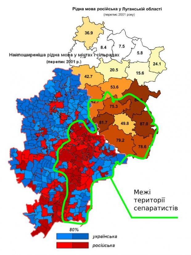Основні успіхи Путіна припали саме на територію, де домінує російське населення