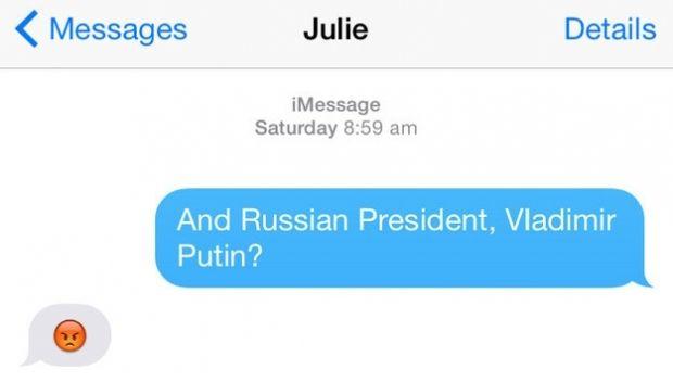Міністр закордонних справ Австралії описала Путіна смайлом