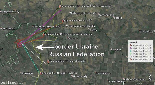 Обстрелы Украины с территории РФ / bellingcat.com