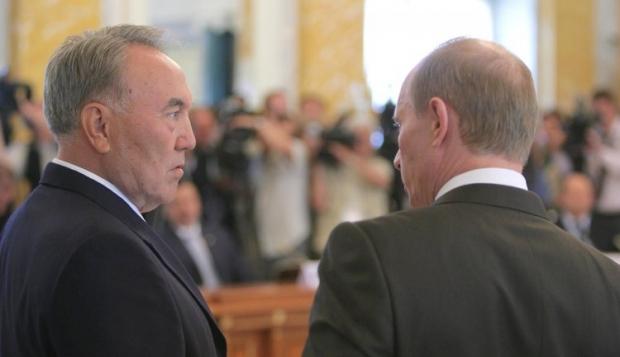 Назарбаев и Путин / Фото УНИАН