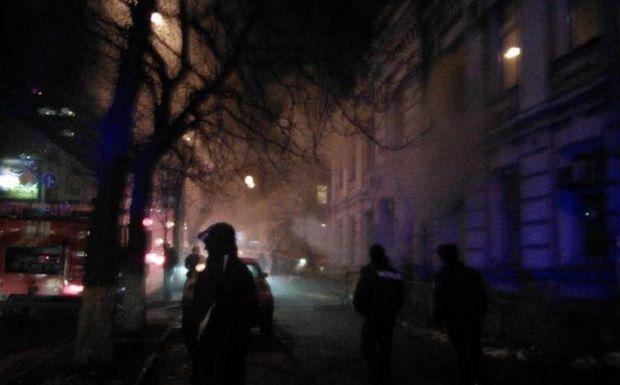 "Пожежа біля ""Київської Русі"" / @LyubovKapitoxa"